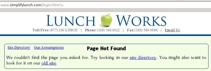 2012-02-08 LunchWorks screenshot 09 - login page not found.crop.png